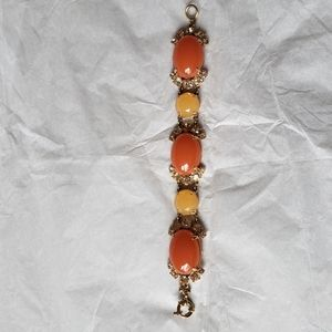 J. Crew Rhinestone Colorful Statement Bracelet